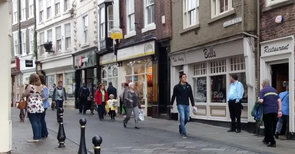 Saddler Street in Durham which is part of a congestion charging scheme.
