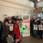 Campaigners against the East Reading MRT scheme celebrate it's rejection by Wokingham Planning Committee
