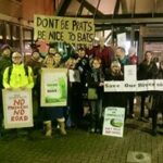 Protesters at Wokingham council offices